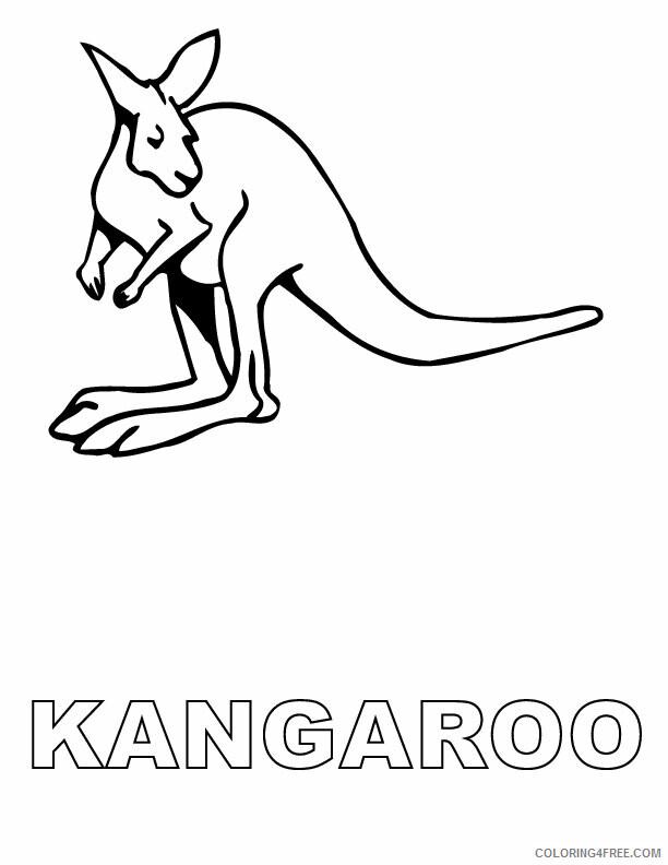 Kangaroo Coloring Pages Animal Printable Sheets Kangaroo 2021 2955 Coloring4free