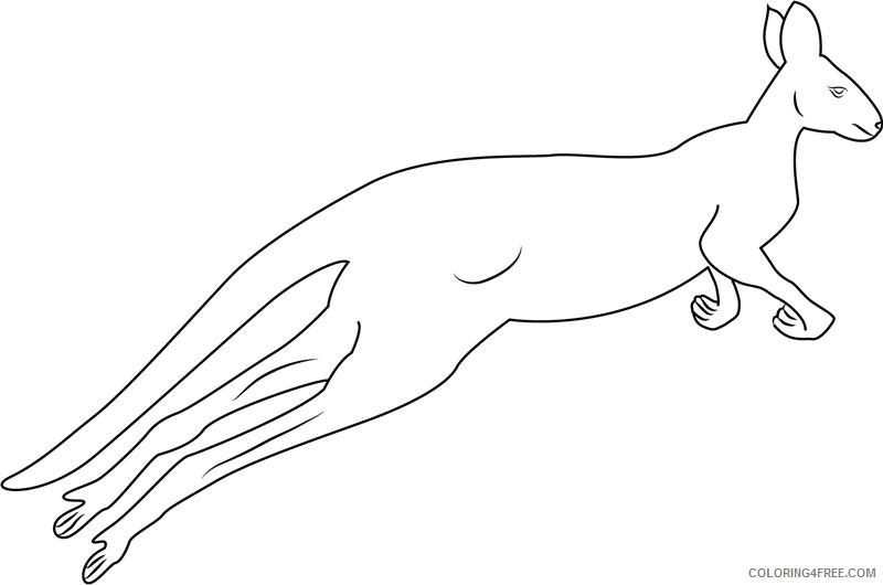 Kangaroo Coloring Pages Animal Printable Sheets kangaroo jumping 2021 2957 Coloring4free