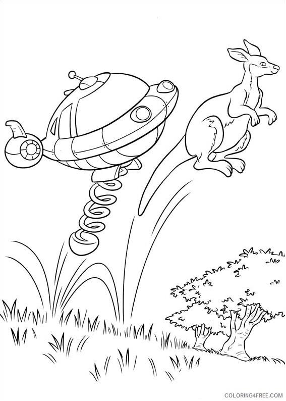 Kangaroo Coloring Pages Animal Printable Sheets rocket and kangaroo 2021 2962 Coloring4free