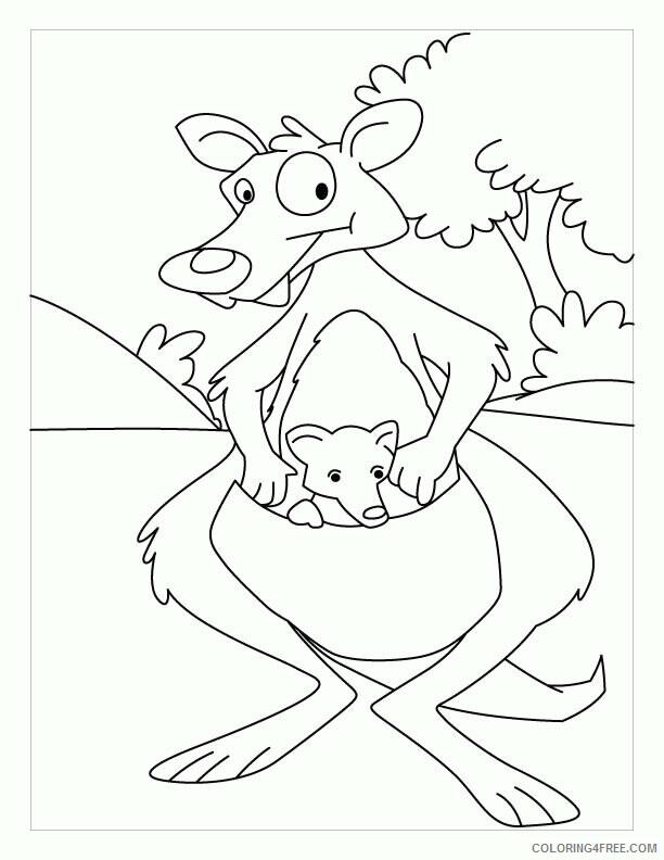 Kangaroo Coloring Sheets Animal Coloring Pages Printable 2021 2611 Coloring4free