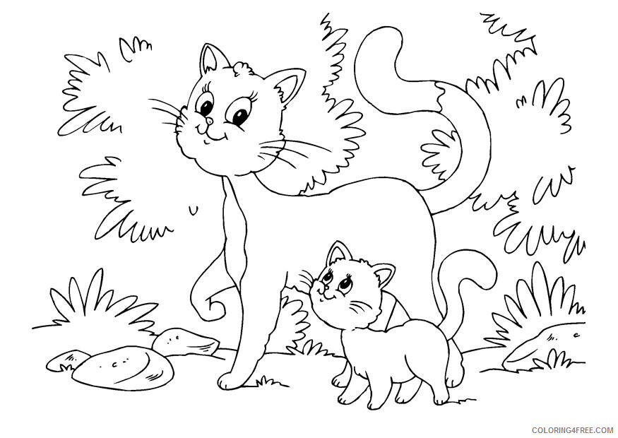 Kitten Coloring Pages Animal Printable Sheets Download Kitten 2021 2980 Coloring4free