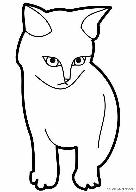 Kitten Coloring Pages Animal Printable Sheets Free Kitten 2021 2982 Coloring4free