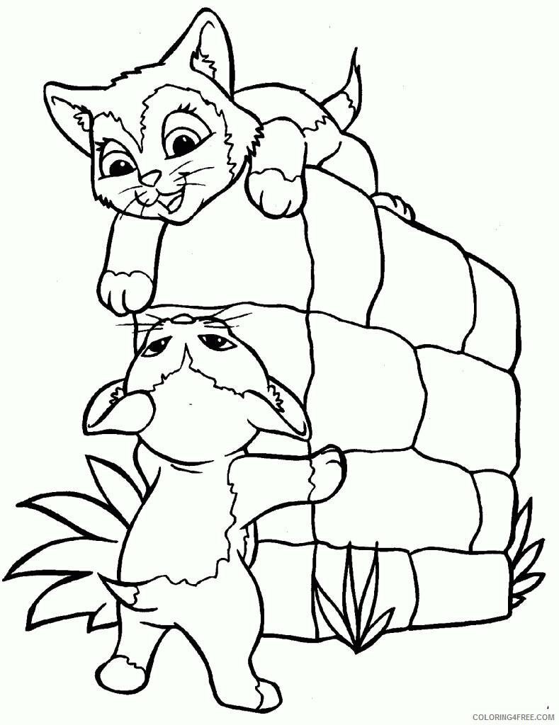 Kitten Coloring Pages Animal Printable Sheets Free Kitten 2021 2985 Coloring4free