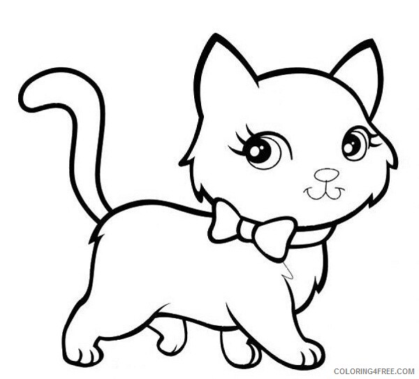 Kitten Coloring Pages Animal Printable Sheets Kitten 2021 2995 Coloring4free