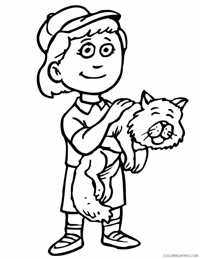 Kitten Coloring Pages Animal Printable Sheets kittens 2021 3014 Coloring4free