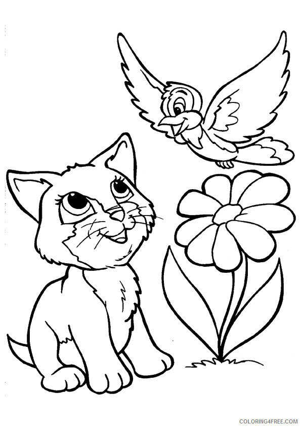 Kitten Coloring Sheets Animal Coloring Pages Printable 2021 2637 Coloring4free