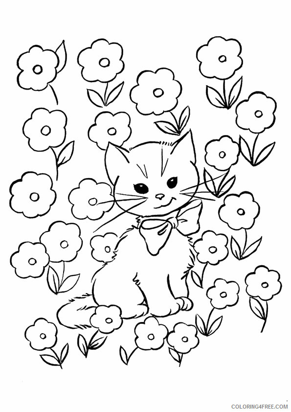 Kitten Coloring Sheets Animal Coloring Pages Printable 2021 2645 Coloring4free