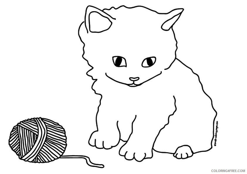 Kitten Coloring Sheets Animal Coloring Pages Printable 2021 2648 Coloring4free