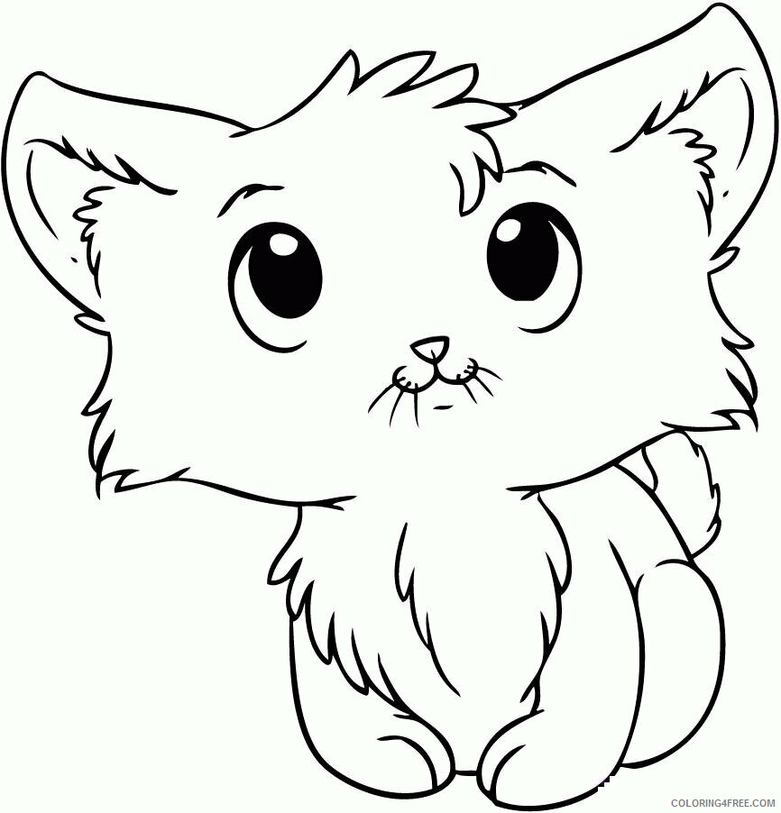 Kitten Coloring Sheets Animal Coloring Pages Printable 2021 2651 Coloring4free