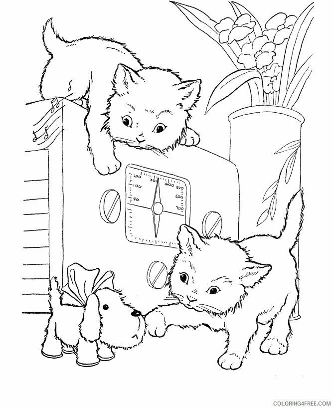 Kitten Coloring Sheets Animal Coloring Pages Printable 2021 2672 Coloring4free