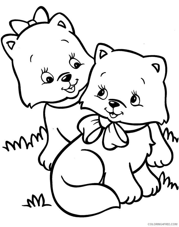 Kitten Coloring Sheets Animal Coloring Pages Printable 2021 2686 Coloring4free