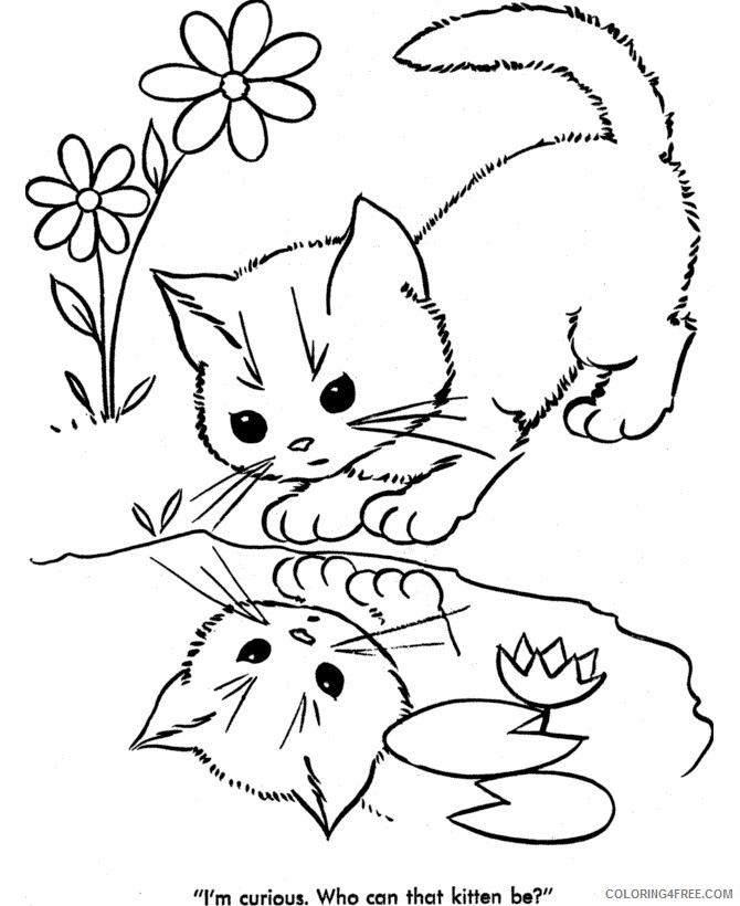 Kitten Coloring Sheets Animal Coloring Pages Printable 2021 2687 Coloring4free