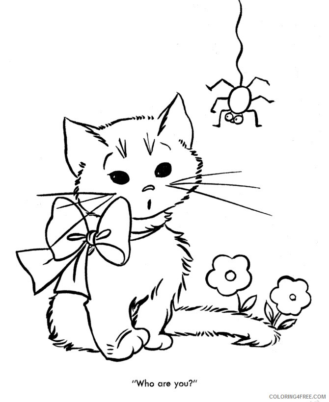 Kitten Coloring Sheets Animal Coloring Pages Printable 2021 2713 Coloring4free