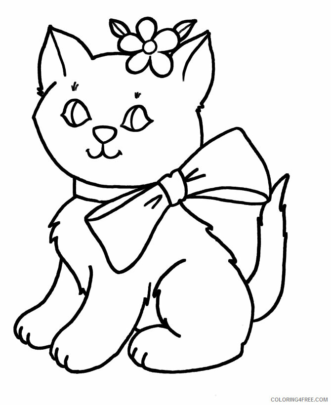 Kitten Coloring Sheets Animal Coloring Pages Printable 2021 2721 Coloring4free