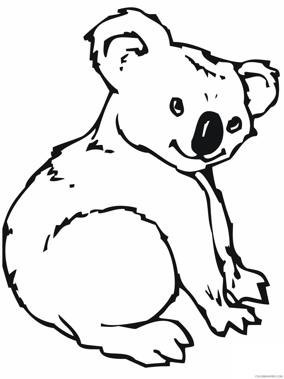 Koala Coloring Pages Animal Printable Sheets Cute Koala 2021 3034 Coloring4free