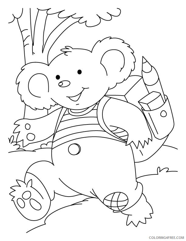 Koala Coloring Pages Animal Printable Sheets Kids Koala 2021 3036 Coloring4free