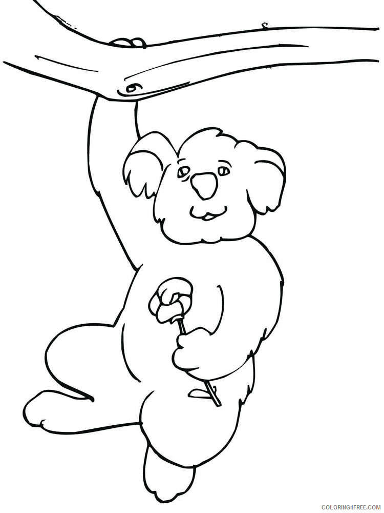 Koala Coloring Pages Animal Printable Sheets Koala animal 339 2021 3045 Coloring4free