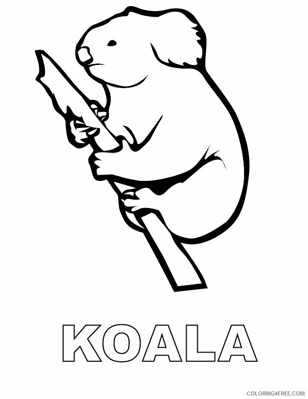 Koala Coloring Sheets Animal Coloring Pages Printable 2021 2729 Coloring4free