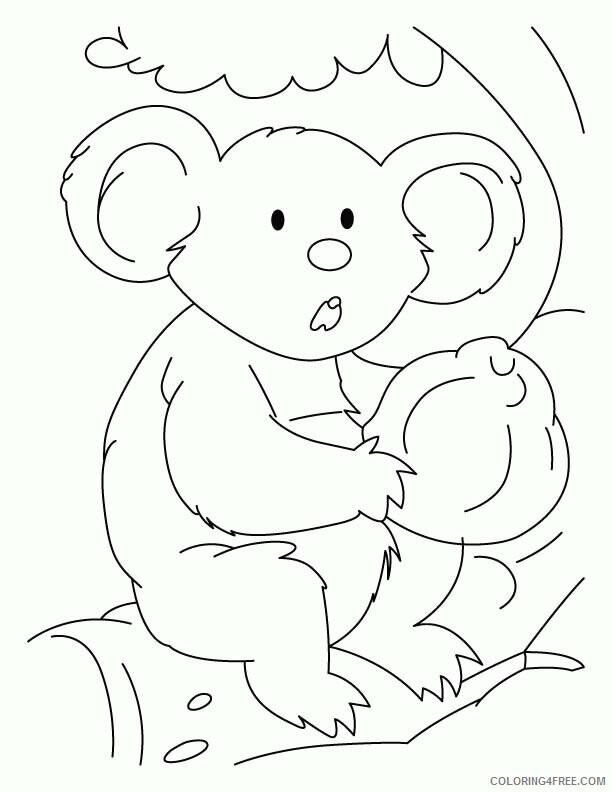 Koala Coloring Sheets Animal Coloring Pages Printable 2021 2733 Coloring4free