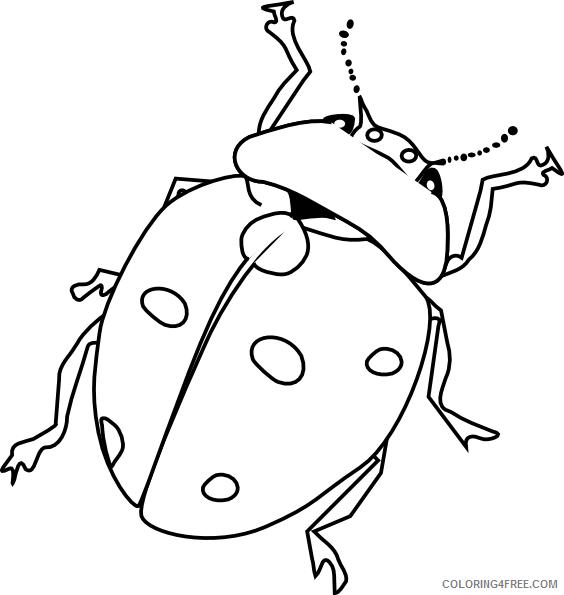 Ladybug Coloring Pages Animal Printable Sheets Ladybug Insect 2021 3096 Coloring4free