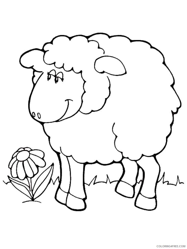Lamb Coloring Pages Animal Printable Sheets animals lamb 16 2021 3111 Coloring4free