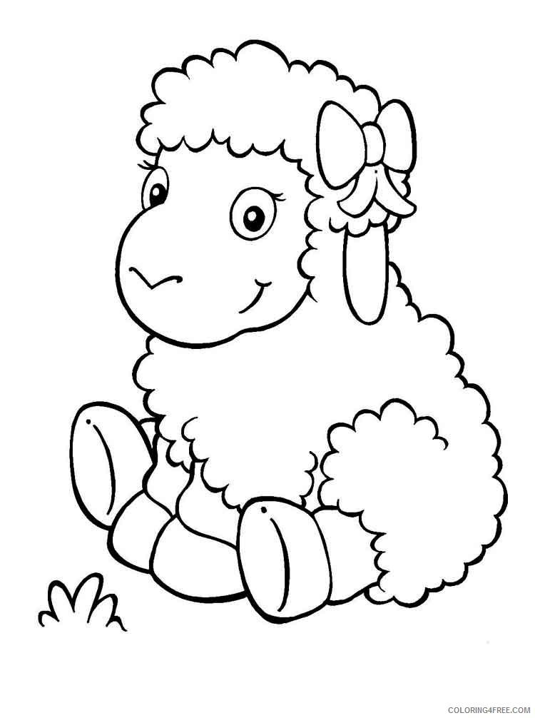 Lamb Coloring Pages Animal Printable Sheets animals lamb 9 2021 3115 Coloring4free