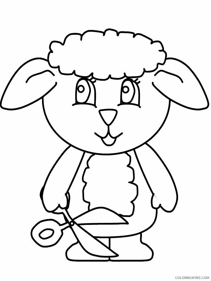 Lamb Coloring Pages Animal Printable Sheets lamb5 2021 3122 Coloring4free