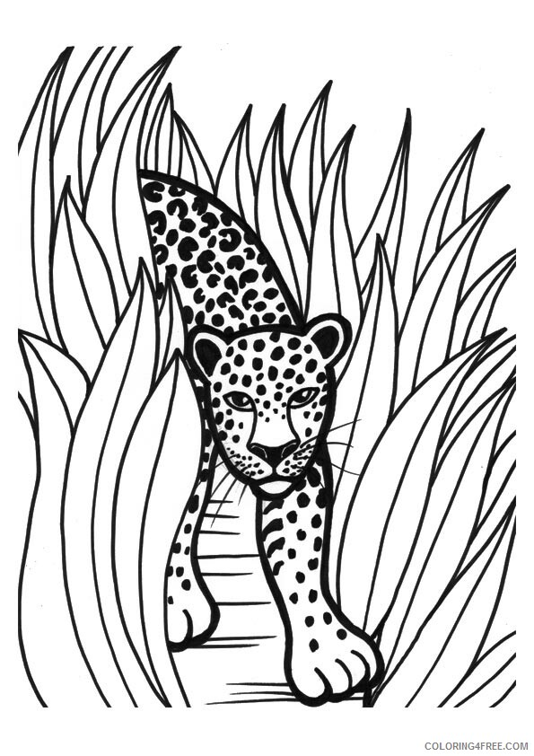 Leopard Coloring Sheets Animal Coloring Pages Printable 2021 2818 Coloring4free
