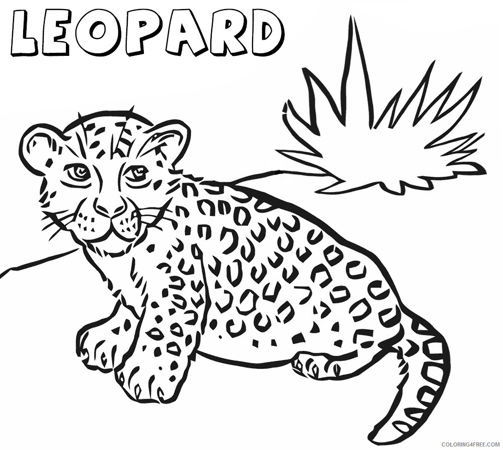 Leopard Coloring Sheets Animal Coloring Pages Printable 2021 2828 Coloring4free Coloring4free Com