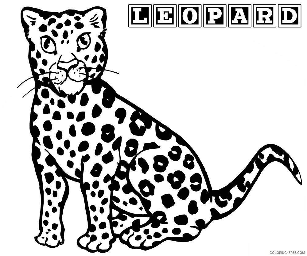 Leopard Coloring Sheets Animal Coloring Pages Printable 2021 2833 Coloring4free