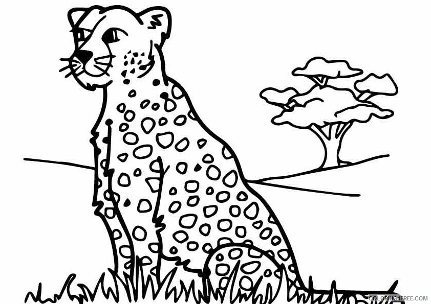 Leopard Coloring Sheets Animal Coloring Pages Printable 2021 2838 Coloring4free