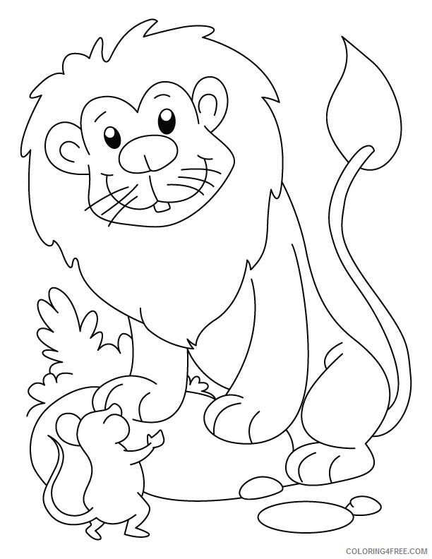 Lion Coloring Pages Animal Printable Sheets Cartoon Lion 2021 3153 Coloring4free