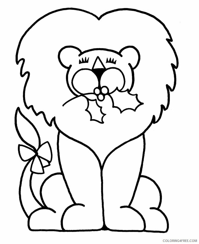 Lion Coloring Pages Animal Printable Sheets Easy Lion 2021 3162 Coloring4free