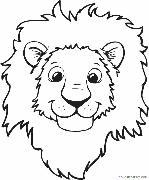 Lion Coloring Pages Animal Printable Sheets Lion Face 2021 3202 Coloring4free