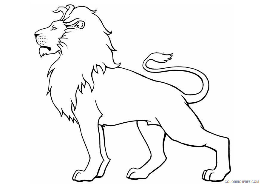 Lion Coloring Pages Animal Printable Sheets Lion For Kids 2021 3186 Coloring4free