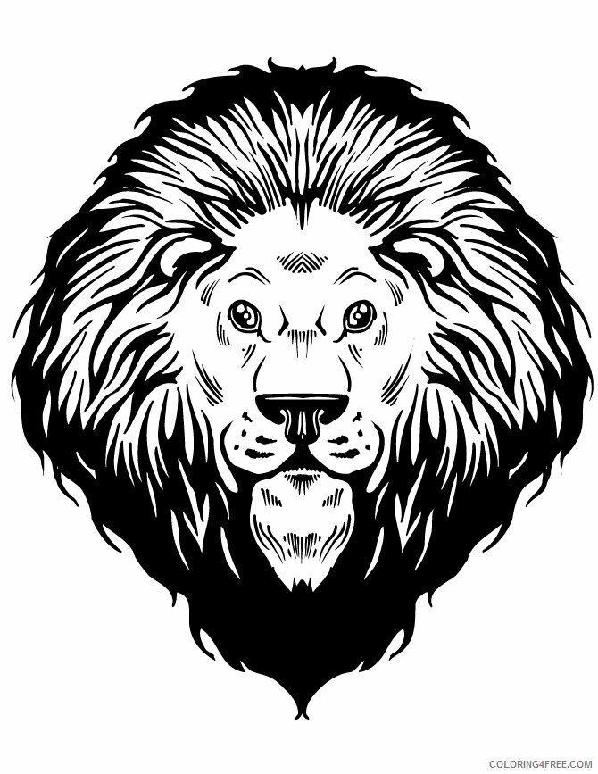 Lion Coloring Pages Animal Printable Sheets Lion Head 2021 3205 Coloring4free