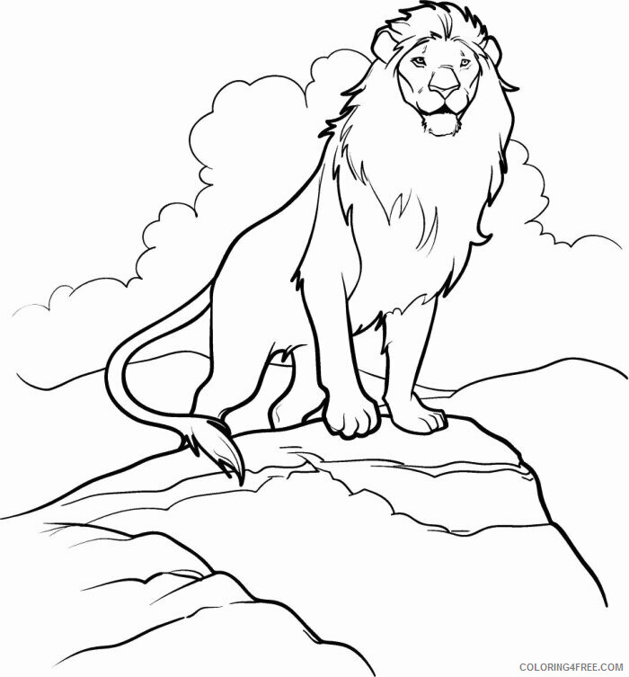 Lion Coloring Pages Animal Printable Sheets Narnia Lion 2021 3212 Coloring4free