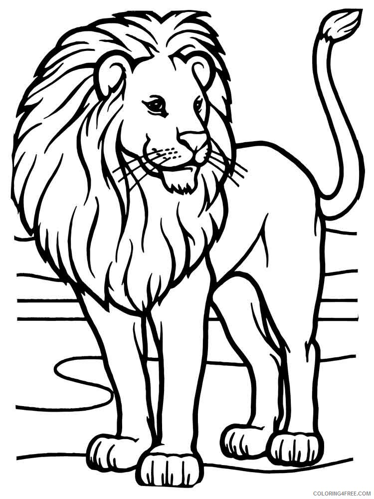 Lion Coloring Pages Animal Printable Sheets animals lion 8 2021 3159 Coloring4free