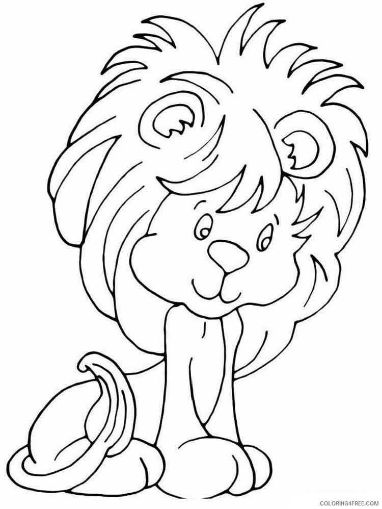 Lion Coloring Pages Animal Printable Sheets animals lion 9 2021 3160 Coloring4free
