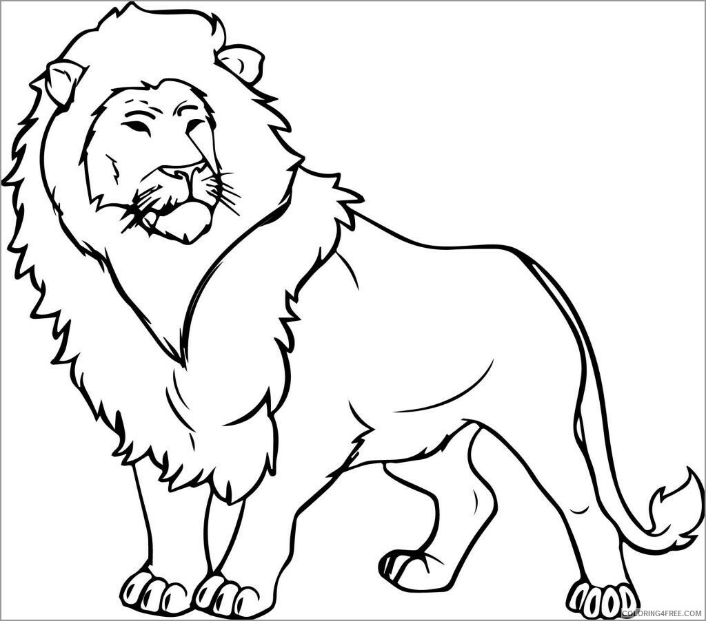 Lion Coloring Pages Animal Printable Sheets lion for toddlers 2021 3187 Coloring4free