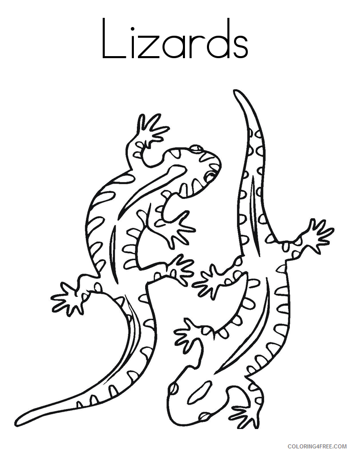 Lizard Coloring Sheets Animal Coloring Pages Printable 2021 2844 Coloring4free