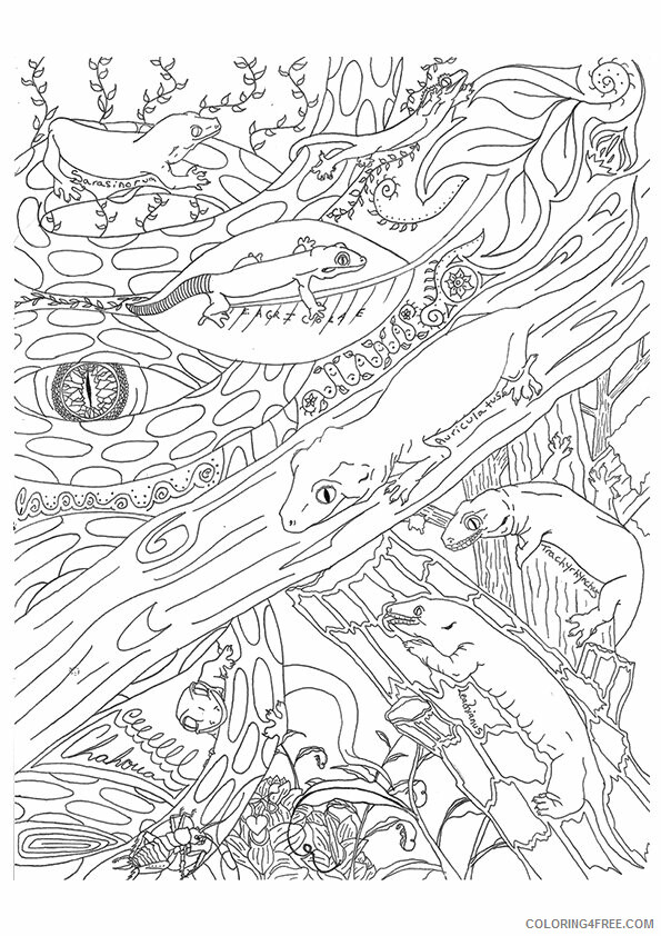 Lizard Coloring Sheets Animal Coloring Pages Printable 2021 2845 Coloring4free