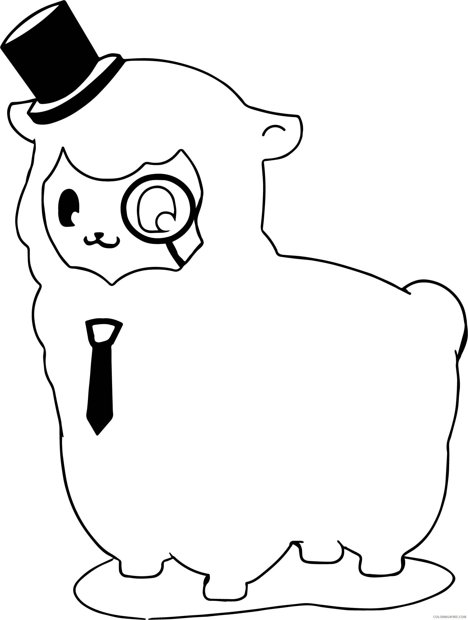 Llama Coloring Pages Animal Printable Sheets Funny Llama 2021 3229 Coloring4free