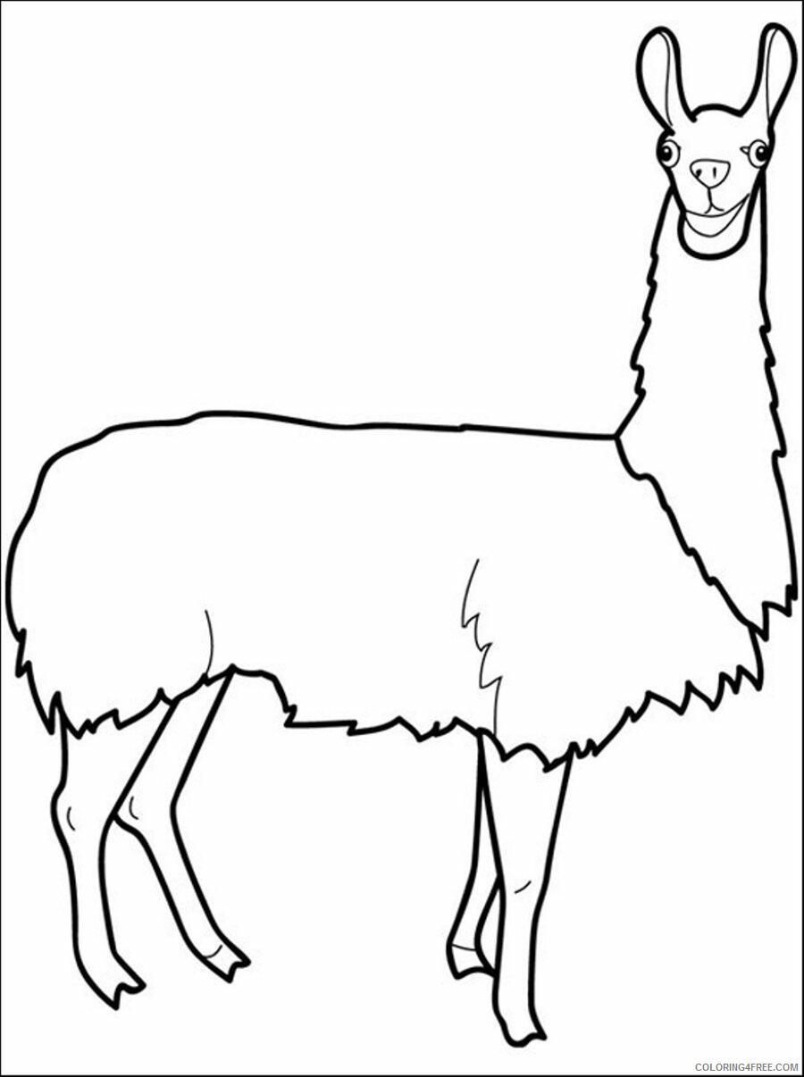 Llama Coloring Pages Animal Printable Sheets Llama 2021 3238 Coloring4free