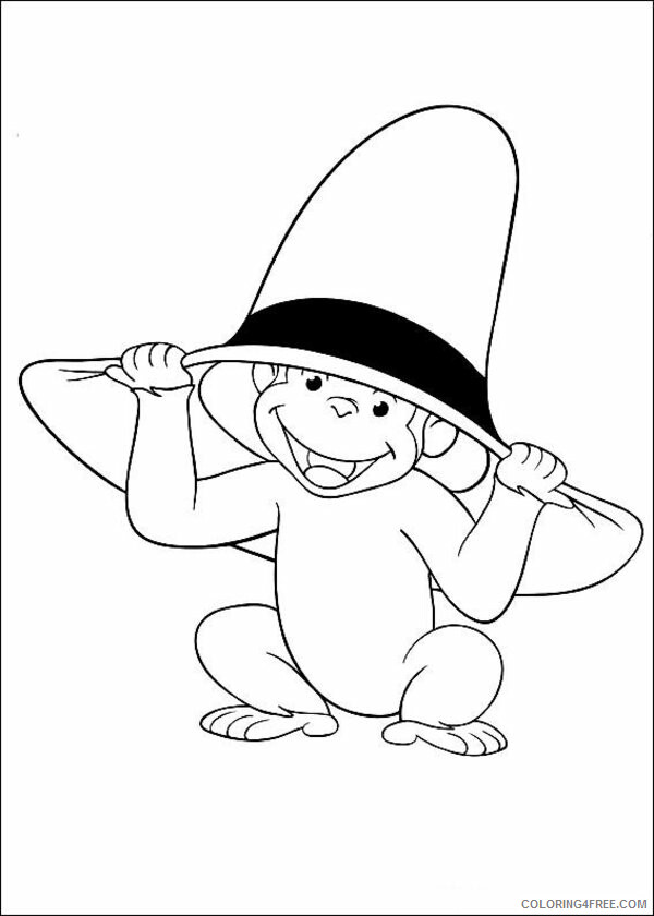 Monkey Coloring Pages Animal Printable Sheets Monkey George 2021 3352 Coloring4free