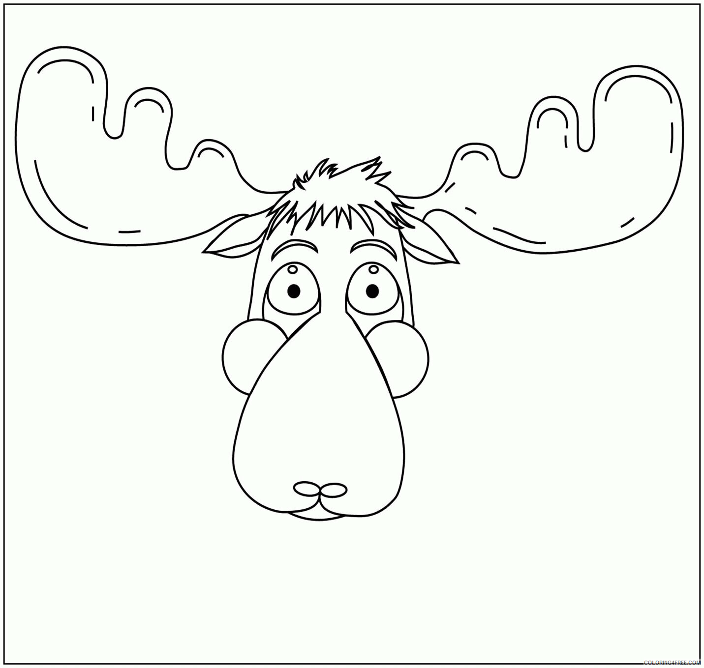 Moose Coloring Sheets Animal Coloring Pages Printable 2021 2901 Coloring4free