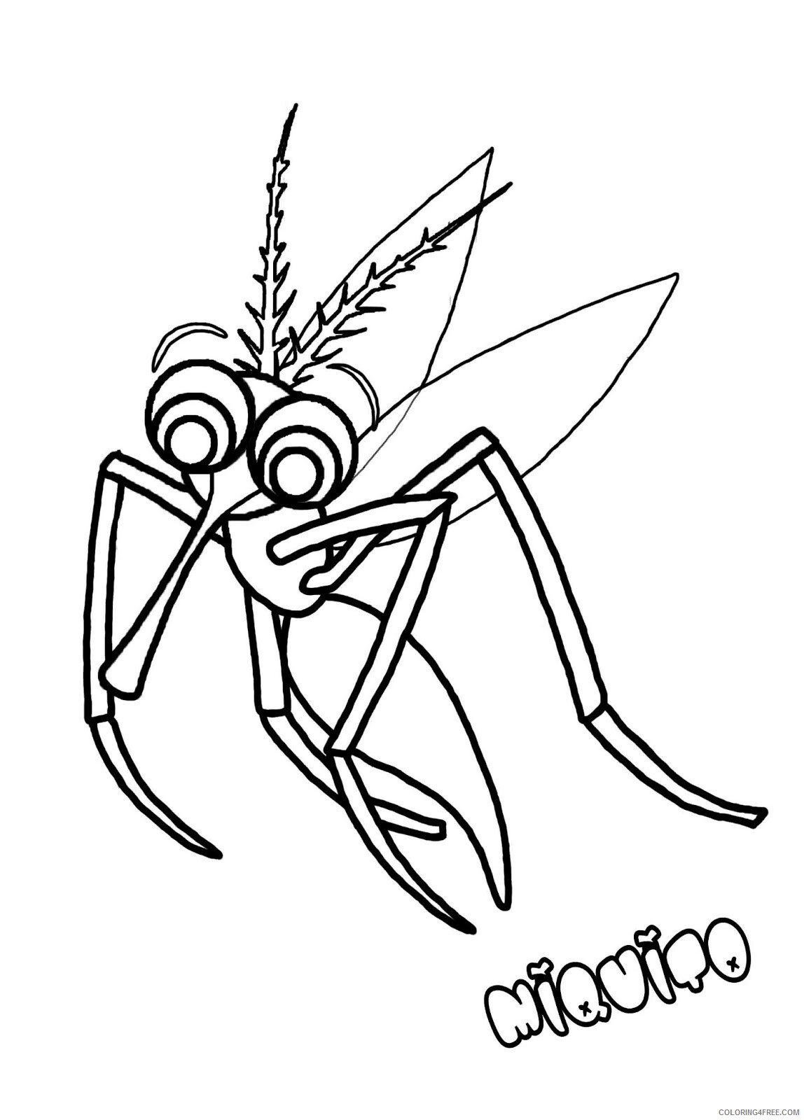 Mosquito Coloring Pages Animal Printable Sheets Mosquito for Kids 2021 3386 Coloring4free