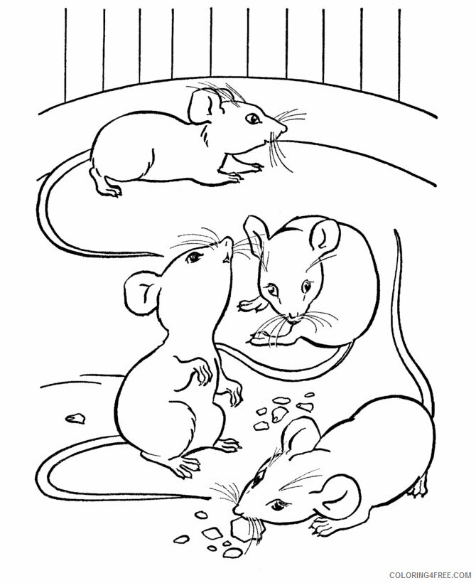 Mouse Coloring Pages Animal Printable Sheets Free Mouse 2021 3410 Coloring4free