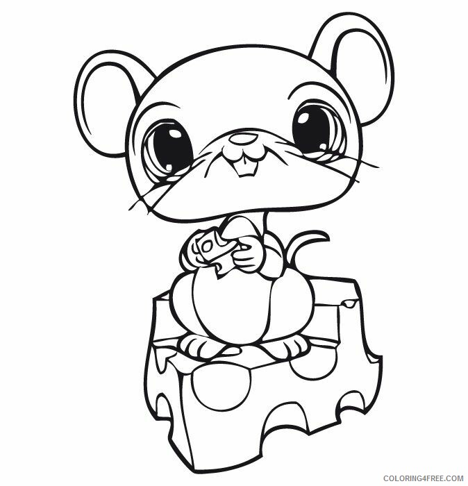 Mouse Coloring Pages Animal Printable Sheets LPS Mouse 2021 3417 Coloring4free