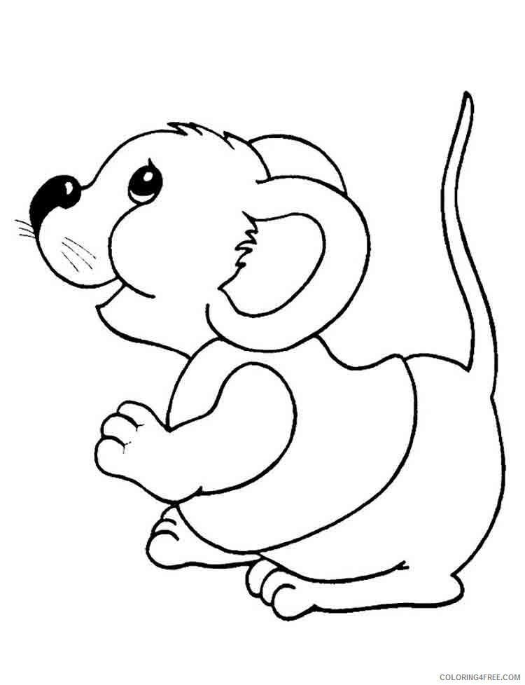 Mouse Coloring Pages Animal Printable Sheets Mouse 13 2021 3433 Coloring4free